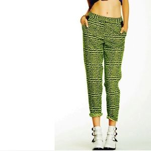 🆕 Nasty Gal : get a clue neon green jacquard pant